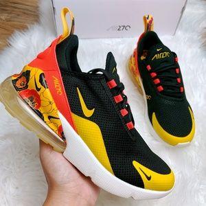 Nike Air Max 270 SE Floral Black Gold Crimson